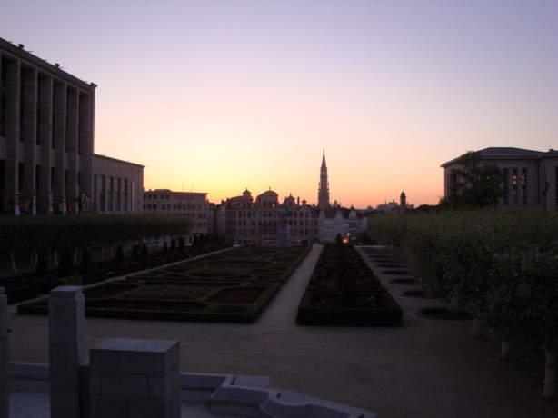 Brussels at Sunset