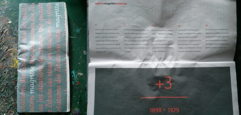 Magritte Museum Leaflet